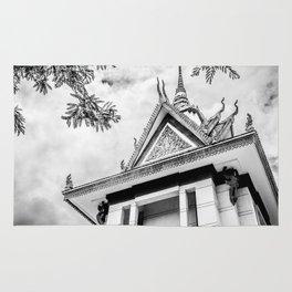 Killing Fields Stupa in Black & White, Cambodia Rug