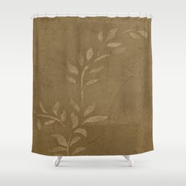 Sepia Vine Vintage Floral - Rustic - Hygge - Modern - Vintage - Farmhouse - Corbin Henry Shower Curtain