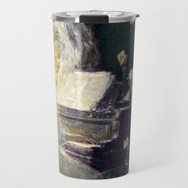 Childe Hassam - The Sonata, 1911 Travel Mug