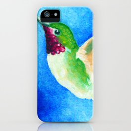 Colorful Hummingbird iPhone Case