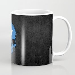 Flag of Somalia on a Chaotic Splatter Skull Coffee Mug