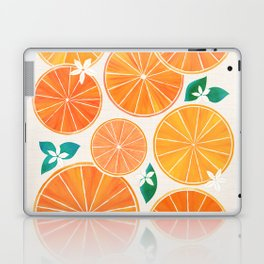 Orange Slices With Blossoms Laptop & iPad Skin