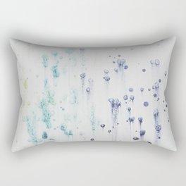 indigo blue green watercolor Rectangular Pillow