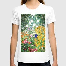 Flower Garden by Gustav Klimt vibrant T-shirt