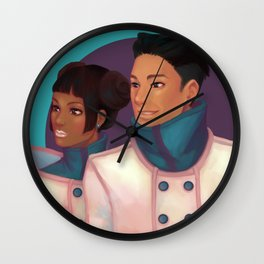 Teal and Purple Wall Clock