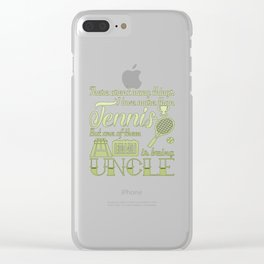 Tennis Uncle Clear iPhone Case