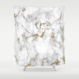 Eureka Gold Marble Shower Curtain