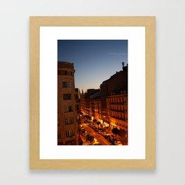 Twilight in Burgos, Spain Framed Art Print