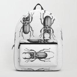 Vintage Beetle black and white Backpack