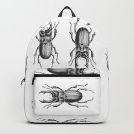 Vintage Beetle black and white Backpack