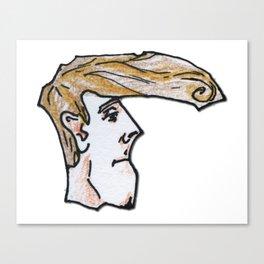 Blonde Elvis Canvas Print