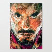 tony stark Canvas Prints featuring TONY STARK by DITO SUGITO