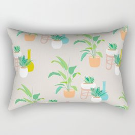 Pretty tropical plant pattern on taupe Rectangular Pillow