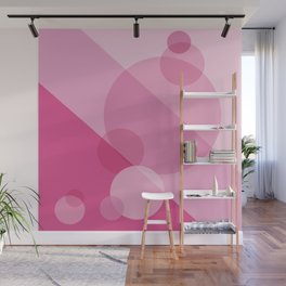 Pink Spheres Abstract Wall Mural