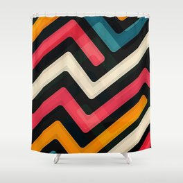 colored streets Shower Curtain