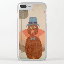 """Eat More Tofu"" Turkey Clear iPhone Case"