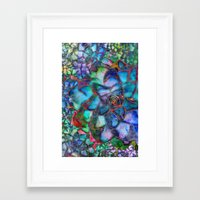 succulent Framed Art Prints featuring Succulent by Klara Acel