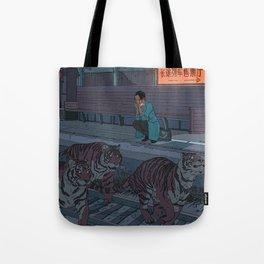 Tiger Station Tote Bag