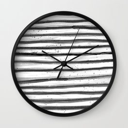 Zebra Swirl Stripe Wall Clock