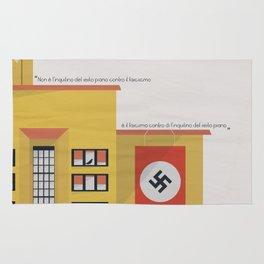 Una giornata particolare, alternative movie poster, Marcello Mastroianni, Sophia Loren, italian film Rug