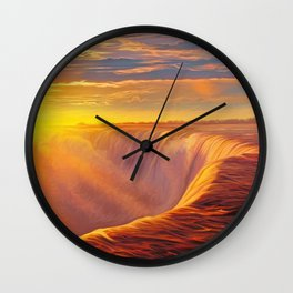 Sunlight waterfall Wall Clock