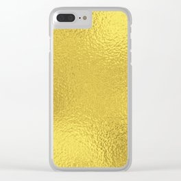 Simply Metallic in Yellow Gold Clear iPhone Case
