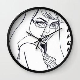 I Only Date Hufflepuffs Wall Clock