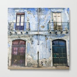BLUE FACADE of SICILY Metal Print