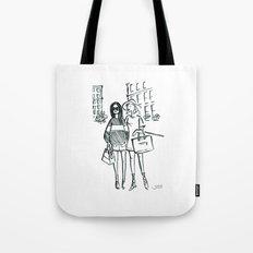 Brush Pen Fashion Illustration - Friends Tote Bag