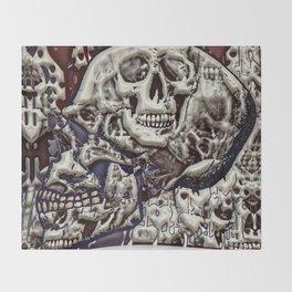 Skulls 3d Throw Blanket
