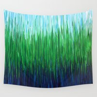 grass Wall Tapestries featuring :: Sea Grass :: by :: GaleStorm Artworks ::
