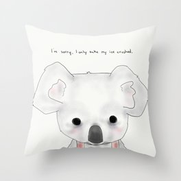 kimberly koala Throw Pillow