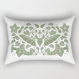 Beetle Bloom Rectangular Pillow