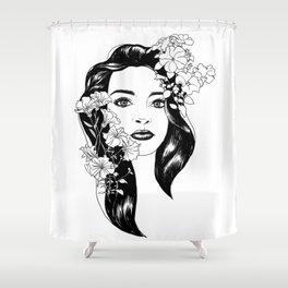 Larisa portret Shower Curtain