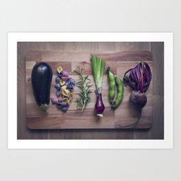 Nightshade pasta ingredients Art Print
