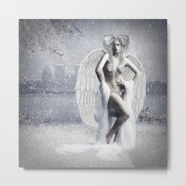 Winter Angel Metal Print