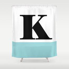 Monogram Letter K-Pantone-Limpet Shell Shower Curtain