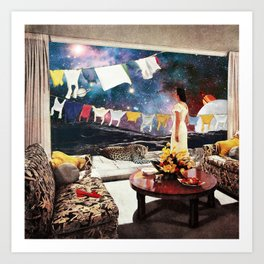 Room with an Almost View Art Print