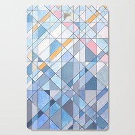 Triangle Pattern no.17 Light Blues Cutting Board