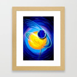 Abstract perfection - Circle Framed Art Print