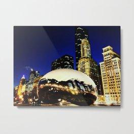 The Chicago Bean #3 Metal Print