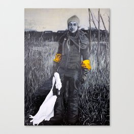 Nina and the swan Canvas Print