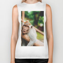 Cute Monkey (Color) Biker Tank