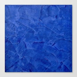 Dark Blue Ombre Burnished Stucco - Faux Finishes - Venetian Plaster Canvas Print