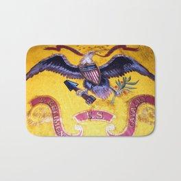 Civil War Eagle on a US Cavalry Flag Bath Mat