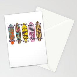 Skateboards Longboards Skater Skateboarding Gift Stationery Cards