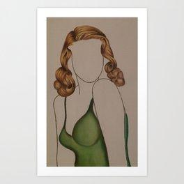 Coiffure No.2 Art Print