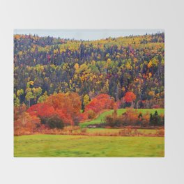 Explosion of Autumn Colors Throw Blanket