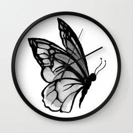 Ink butterfly Wall Clock