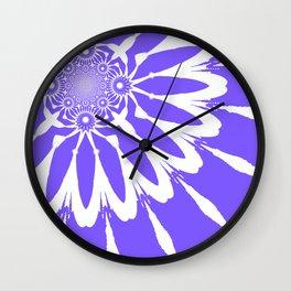 The Modern Flower Periwinkle Lavender Wall Clock